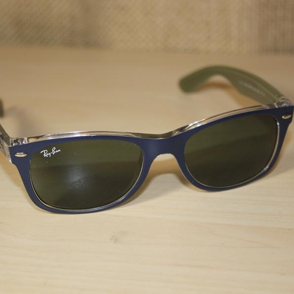 e259b593ae8 Ray-Ban New Wayfarer Bicolor Blue RB2132 6188 52mm.  M 5ad546bc85e605e2f22f1058. Other Accessories ...